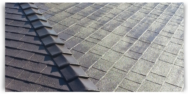 asphalt roof restored